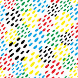 Colorful dubs seamless pattern. Royalty Free Stock Image