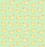 Colorful duck pattern Stock Images