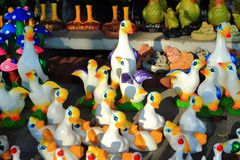 Colorful  duck statue Royalty Free Stock Images