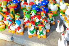 Colorful  duck statue Stock Image