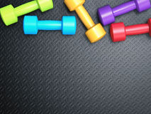 Colorful dumbbells Stock Photography