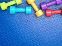 Colorful dumbbells Royalty Free Stock Image