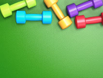Colorful dumbbells Royalty Free Stock Photography