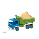 Colorful dump truck toy with sand. Stock Photography