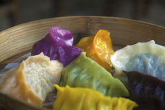 Colorful dumplings Stock Photography