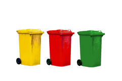 Colorful dustbin Stock Photo