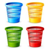 Colorful Dustbin Stock Images