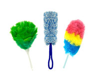 Colorful Dusters for everyday chores Stock Image
