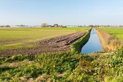 Colorful Dutch rural landscape in autumn Stock Photos