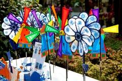 Colorful Dutch windmill toys Stock Photos
