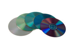 Colorful DVDs Stock Image