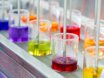 Colorful dye in mixing process Stock Photography