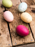 Colorful Dyed Easter Eggs Royalty Free Stock Images