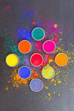 Colorful dyes Royalty Free Stock Images