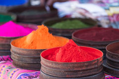 Colorful dyes from natural minerals Royalty Free Stock Images