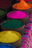 Colorful dyes from natural minerals Stock Photos