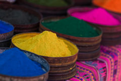 Colorful dyes from natural minerals Stock Images