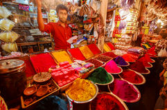 Colorful dyes for sale in India Royalty Free Stock Photos