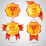 A colorful e-commerce badges Royalty Free Stock Photo