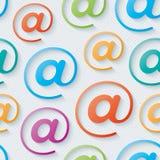 Colorful e-mail wallpaper. Stock Photo