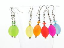 Colorful earrings Stock Image