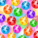 Colorful earth Royalty Free Stock Photo