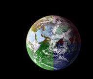 Colorful earth Royalty Free Stock Photos