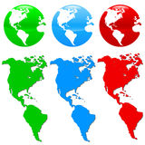 Colorful earth icon set Stock Image