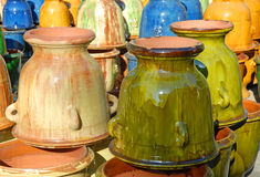 Colorful earthenware vases Royalty Free Stock Photo