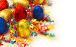 Colorful easten eggs Royalty Free Stock Image