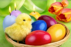 Colorful Easter arrangement Stock Photo