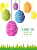 Colorful easter background Stock Photos