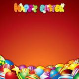Colorful Easter Background with Space for Text Stock Image