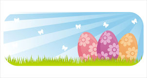 Colorful easter banner Royalty Free Stock Photo