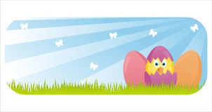 Colorful Easter Banner Royalty Free Stock Image