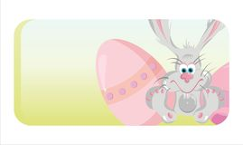 Colorful easter banner Royalty Free Stock Photos