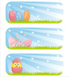 Colorful easter banners Stock Photography