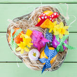 Colorful easter basket Royalty Free Stock Photography
