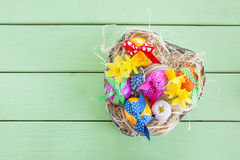 Colorful easter basket Royalty Free Stock Photo