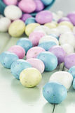 Colorful Easter Candy Eggs Stock Photos