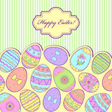Colorful easter card Stock Photography