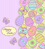 Colorful easter card Stock Images