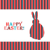 Easter Bunny. Colorful easter card with copy space Stock Photography