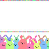 Colorful easter card with copy space. EPS 8 Stock Photography