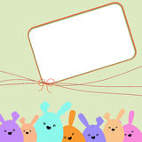 Colorful easter card with copy space. EPS 8 Royalty Free Stock Image