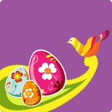 Colorful easter card template Royalty Free Stock Photo