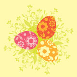 Colorful easter card template Royalty Free Stock Images