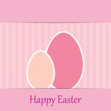 Colorful easter card with two eggs vector illustration