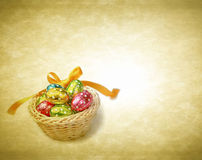 Colorful Easter chocolate eggs Stock Images