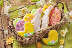Colorful easter cookies Royalty Free Stock Photos